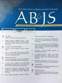ژورنال  Archives of Bone  ; Joint Surgery در لیست ده مجله برتر کشور قرار گرفت